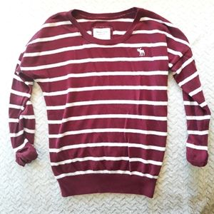 A&F Red Striped Sweater